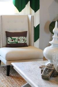 Chevron Curtains - Contemporary - living room - Charm Home ...