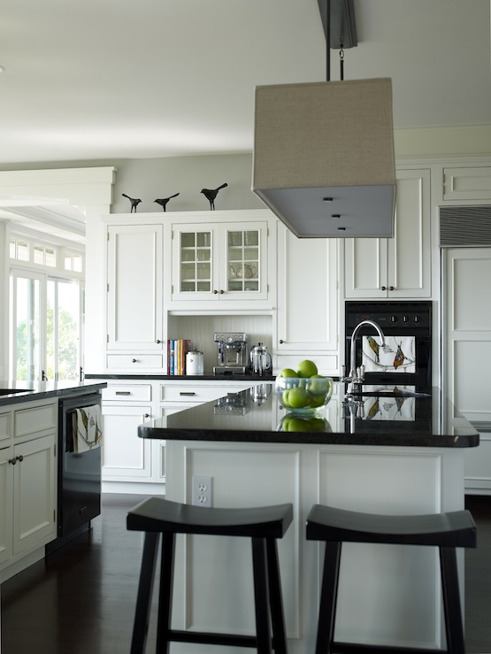 Stools For Island In Kitchen Rectangular Shade Pendant - Transitional - Kitchen - Bella