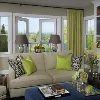 Green Silk Curtains Design Ideas