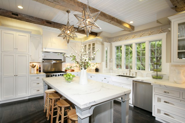 Eleanor Kitchen Island Moravian Star Pendant Design Ideas