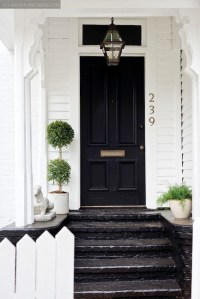White House with Black Front Door - Cottage - home ...