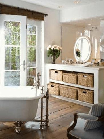 Black And White Victorian Wallpaper Cottage Bathroom Ideas Cottage Bathroom