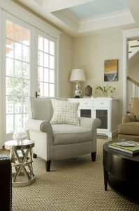 Painted Coffered Ceiling - Transitional - living room ...