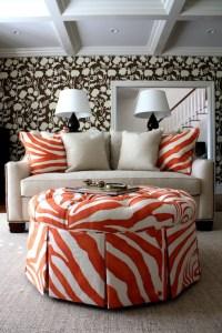 Zebra Ottoman - Transitional - living room - Porter Design ...