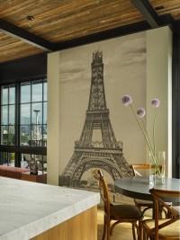 Eiffel Tower Mural - Contemporary - dining room - Janof ...