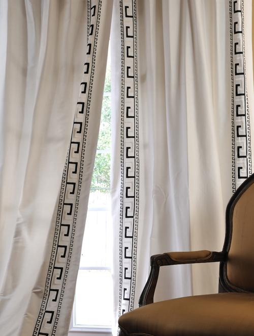 Black And White Wallpaper Decor Discounted Greco Oyster Italian Embroidered Cotton Silk