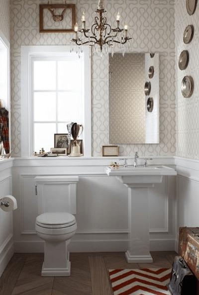 Powder Room Wainscoting Design Ideas