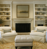 Brick Fireplace - Traditional - living room - Ashley ...