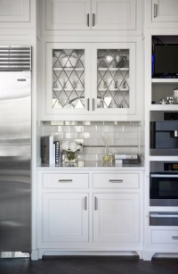 Leaded Glass Cabinet Doors - Transitional - kitchen ...