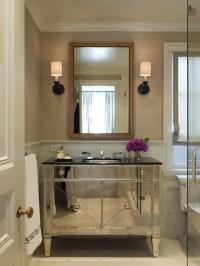 Mirrored Bathroom Vanity - Contemporary - bathroom ...