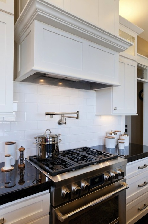 Black Keys Wallpaper White Subway Tile Backsplash Transitional Kitchen