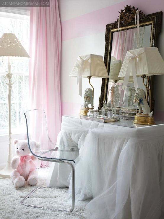 Girls Pink Bedroom Wallpaper Ghost Chair Ikea Contemporary Girl S Room Atlanta