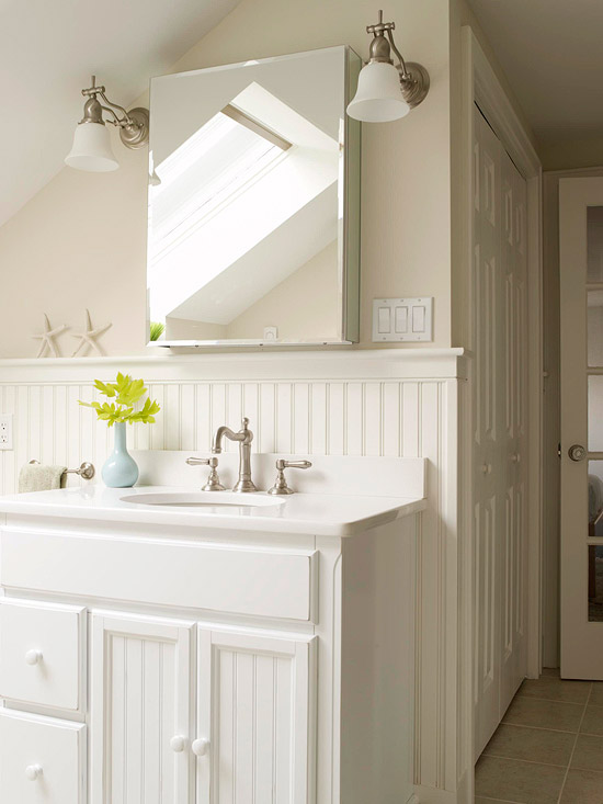Beadboard Bathroom White Beadboard Bathroom Design Ideas