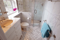 Small Marble Bathroom - Transitional - bathroom - The ...