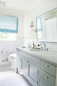 Gray and Blue Bathroom Ideas - Contemporary - bathroom ...