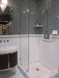 Gray Subway Tile Bathroom Design Ideas