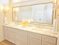Gray Double Wide Vanity Design Ideas