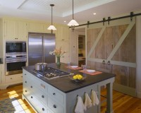 Barn Doors in Kitchen - Country - kitchen - Hutker Architects
