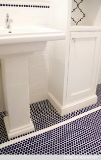 Mosaic Penny Tile Bathroom Floor Design Ideas