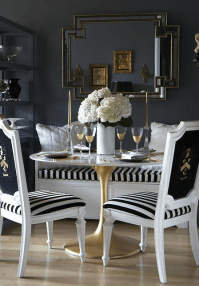 Black and White Dining Room - Eclectic - dining room - The ...