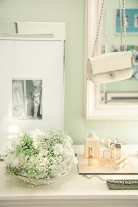 Mint Green Walls - Transitional - bedroom - Rue Magazine