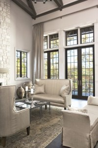 Steel French Doors - Transitional - living room - Sherwin ...