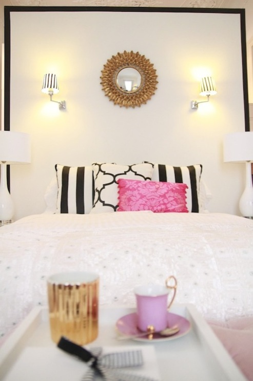 Girl Wallpaper Free Down Black And White Headboard Contemporary Bedroom Ana