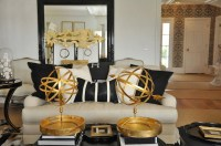 Gold and Black living Room - Eclectic - living room ...