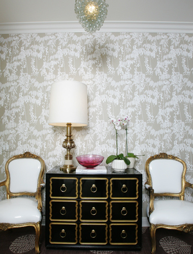 Black And Pink Floral Wallpaper Black And Gold Chest Design Ideas