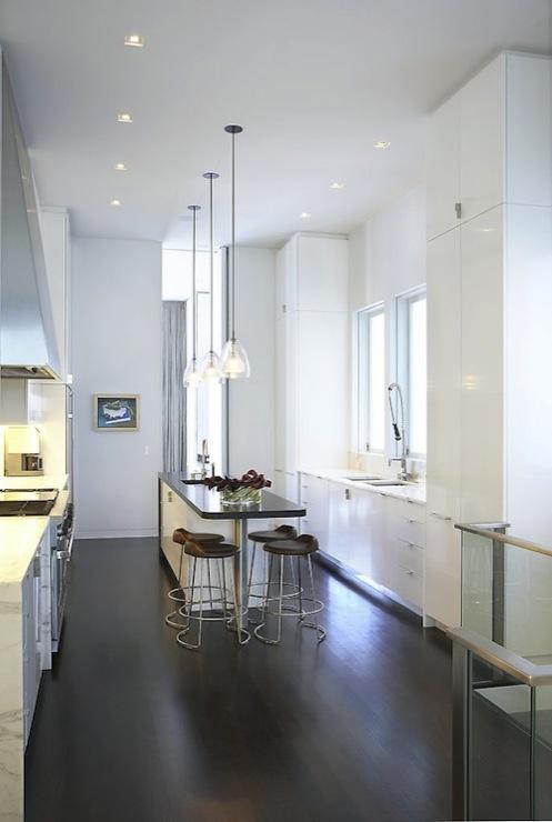 Black And White Marble Wallpaper Modern Bar Stools Modern Kitchen Butler Armsden