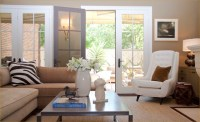 Tan And White Living Room - Design, decor, photos ...