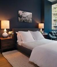 Peacock Blue Walls - Contemporary - bedroom - Haus Interior