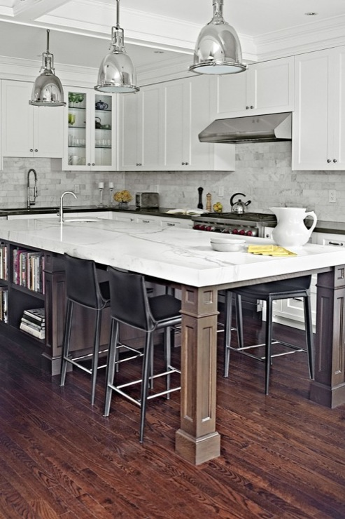 Kitchen Table Islands Cabinets Long Kitchen Island - Contemporary - Kitchen - Palmerston
