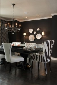 Black and White Dining Room - Contemporary - dining room ...