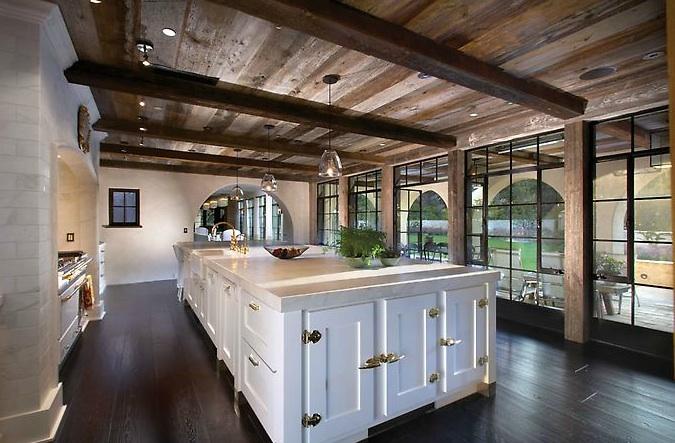 Rustic Wood Kitchen Ceiling Beams Design Ideas