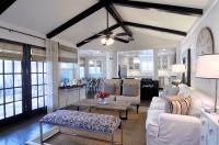 Black Wood Beams - Transitional - living room - Cote de Texas