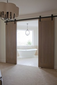 Bathroom Barn Doors - Transitional - bathroom - Jenny Baines