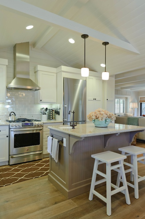 Black Beadboard Wallpaper Beadboard Ceiling Kitchen Transitional Kitchen