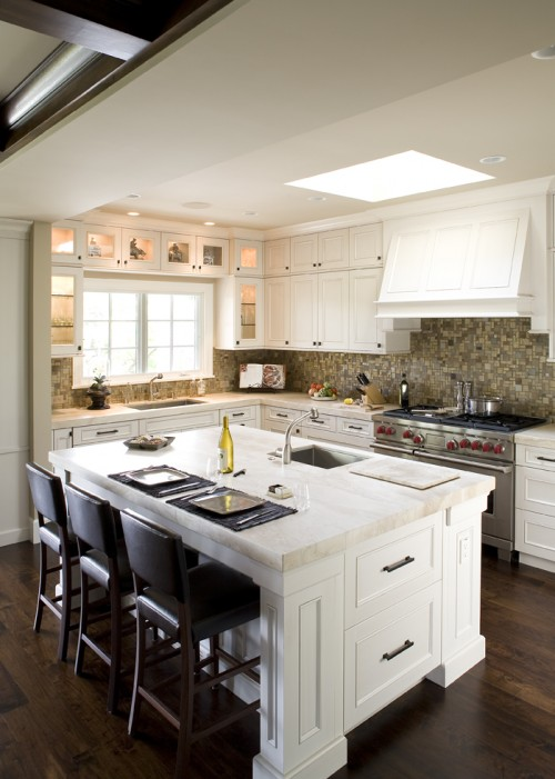 Island Tables For Kitchen With Stools Kitchen Skylight - Transitional - Kitchen - Mueller Nicholls