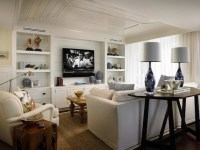Built In Cabinets - Cottage - living room - Cindy Ray ...