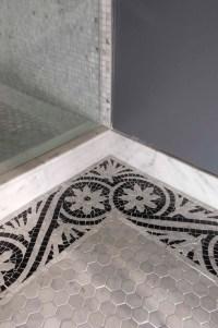 Mosaic Border Tiles - Transitional - bathroom - Artistic ...