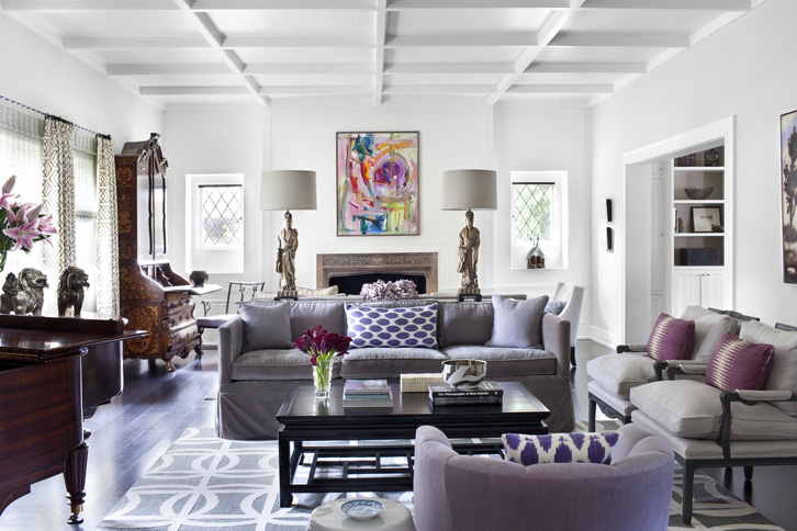 Gray And Purple Living Room Design Ideas - purple and grey living room