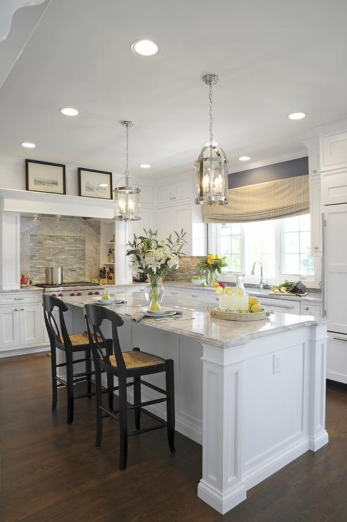 Kitchen Island Distance From Cabinets Alpine White Granite - Transitional - Kitchen - Sherwin