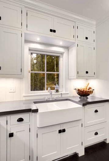 White Dove Cabinets Kitchens Farmhouse Sink Design Ideas
