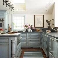 Pale Blue Kitchen Cabinets Design Ideas