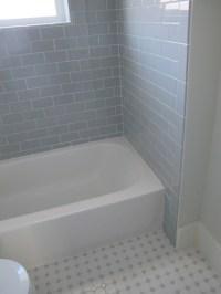Gray Subway Tile - Contemporary - bathroom - White & Gold ...