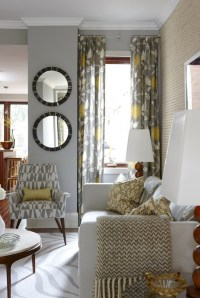 Yellow and Gray Curtains - Contemporary - living room ...