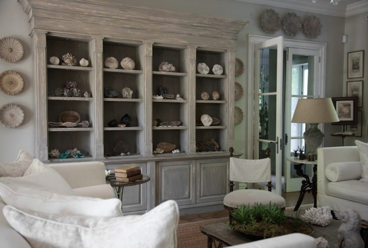 Glass Display Cabinets - Transitional - living room - Lillian August - living room display cabinets