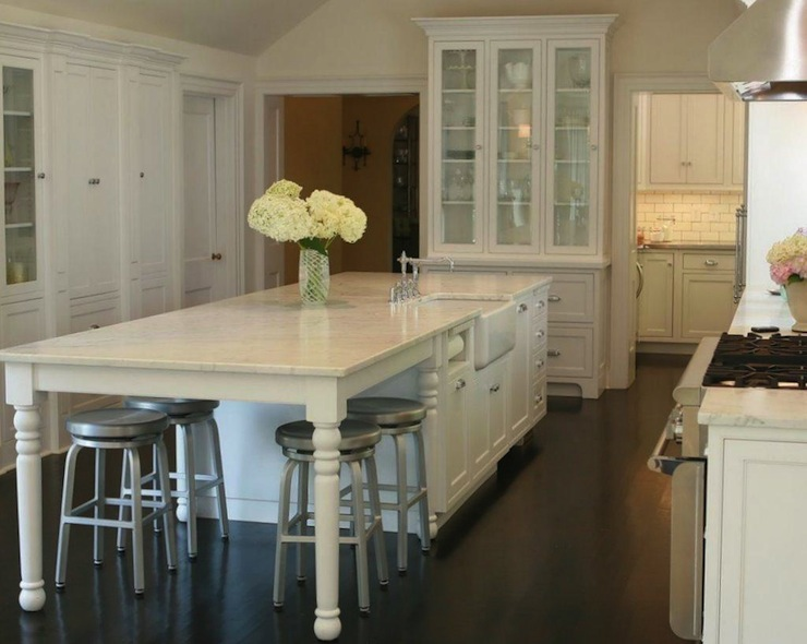 Kitchen Cabinets Long Island Marble Kitchen Island - Traditional - Kitchen - West End