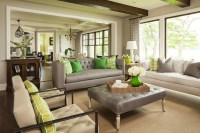 Gray Tufted Sofa - Contemporary - living room - Benjamin ...